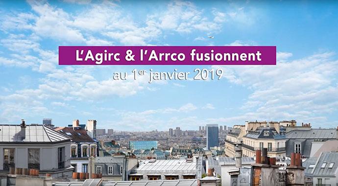 Capture d'image de la vidéo sur le titre l'AGIRC & l'ARCCO fusionnent